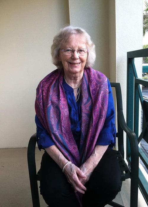 Bobbie Giacino sitting in patio