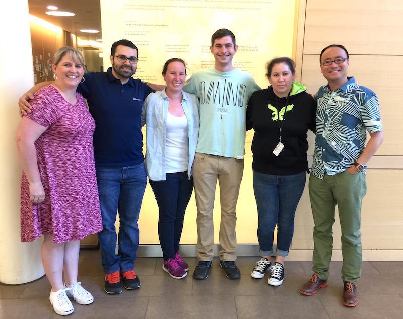 group photo of Juntos camp chaperones in Linus Pauling