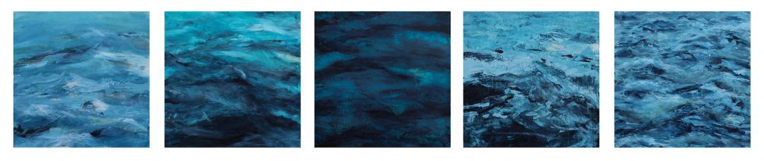 Abigail Losli's ocean paintings