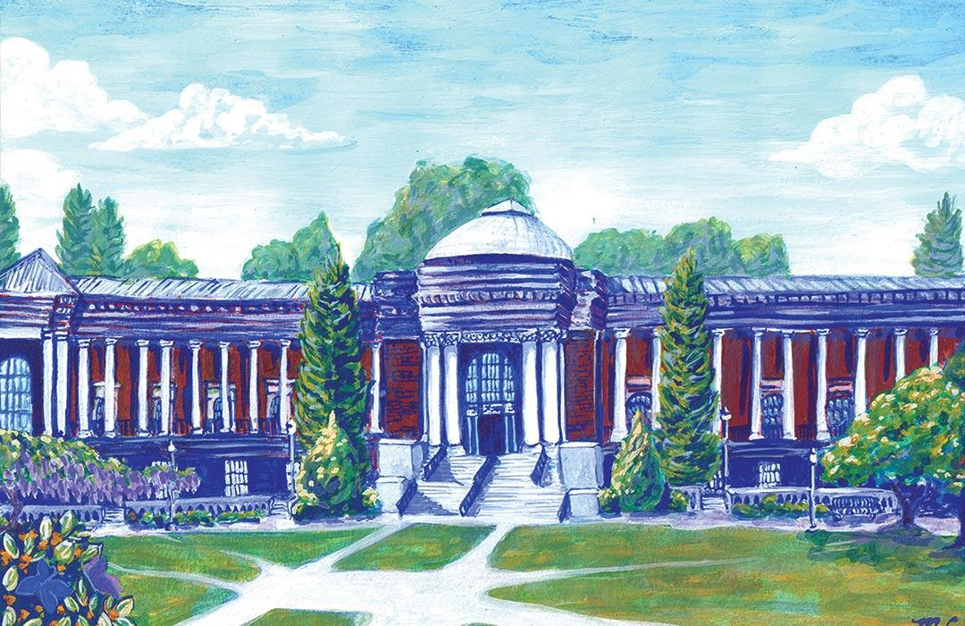 painting of the Memorial Union
