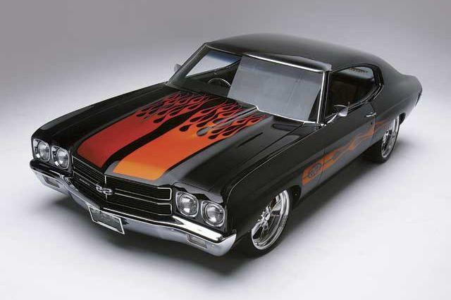 1970 Chevelle in front of grey backdrop