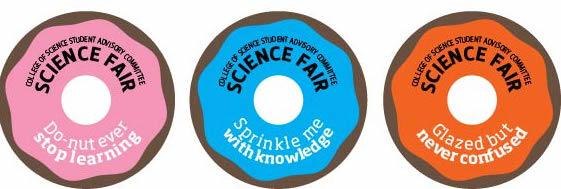 Science Fair donut stickers