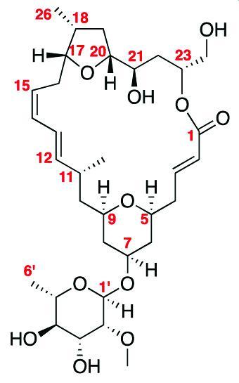 Diagram of Isomandelalide