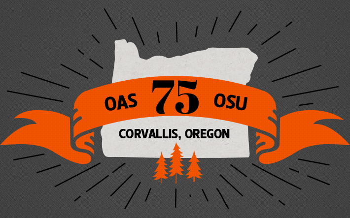 OAS 75 OSU banner graphic above Oregon