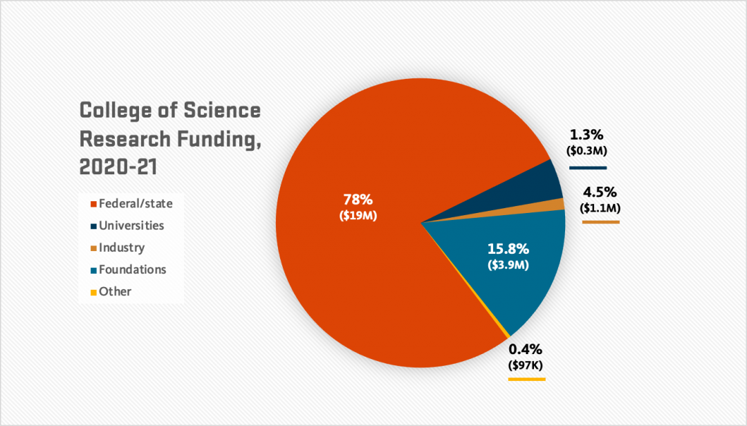 Pie chart depicting funding sources