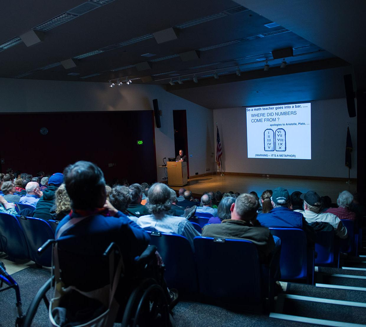 audience attending Gilfillan lecture