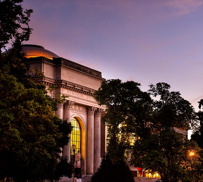 Memorial union at sunset