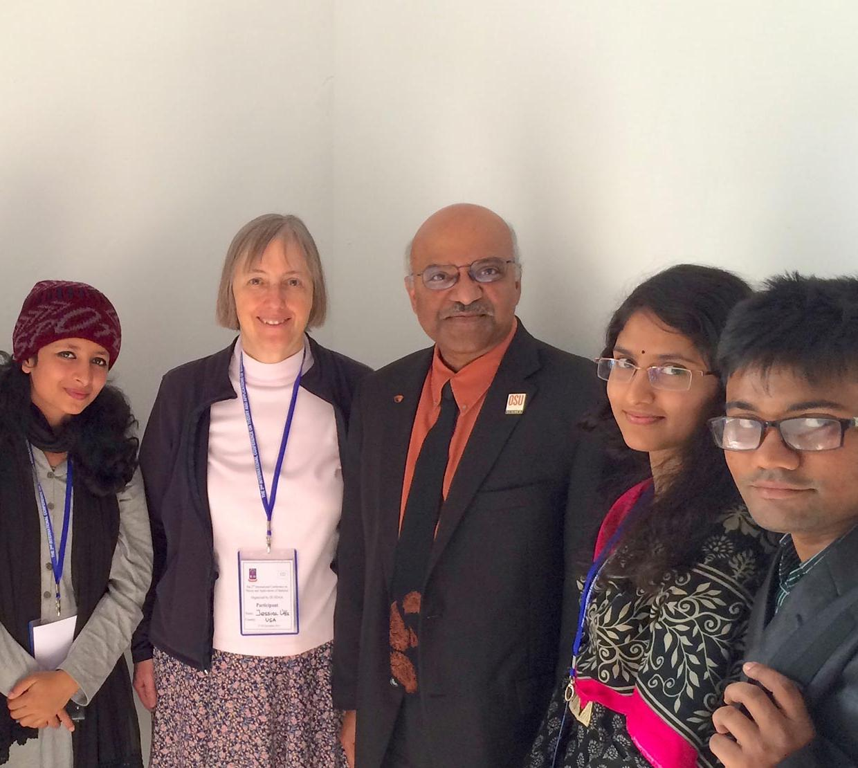 Sastry Pantula with conference attendees in Dhaka