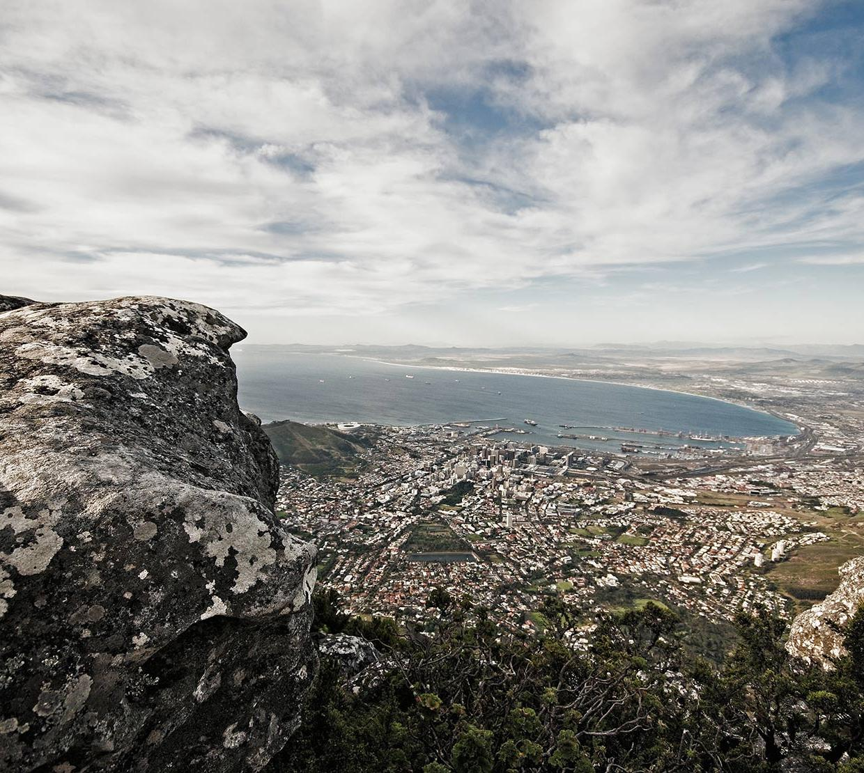 South African cityscape along coast