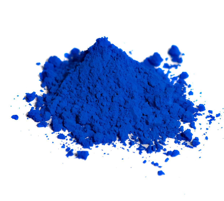 pile of blue pigment