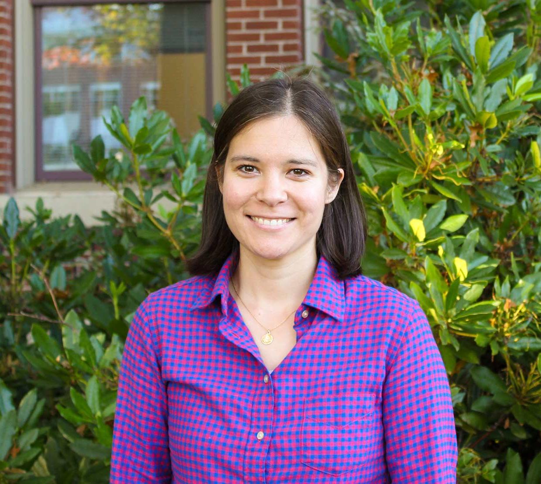 Elise Lockwood in front Kidder Hall