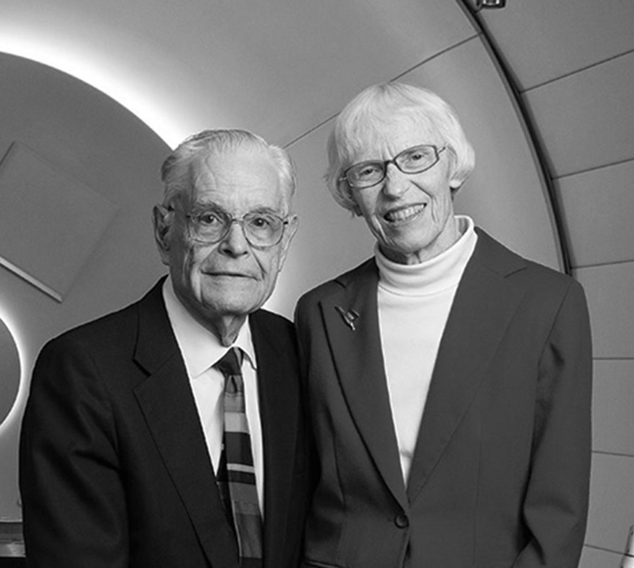 Joan Countryman Suit with her husband with research equipment