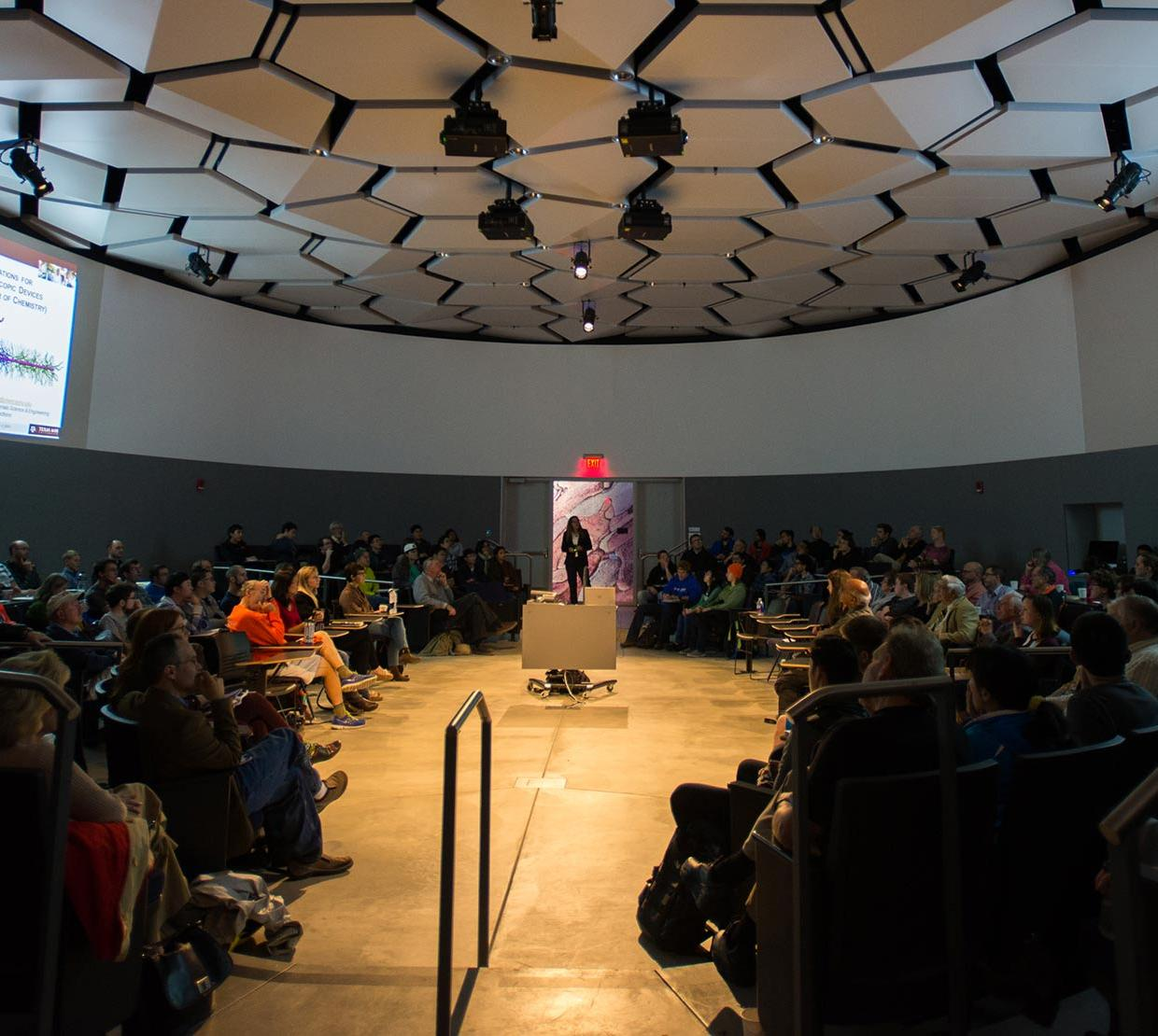 lecture in LINC circle room