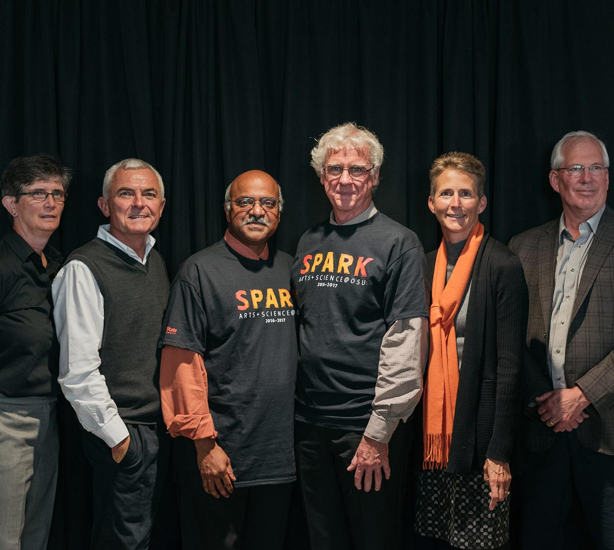 group picture of SPARK event leaders in event shirts