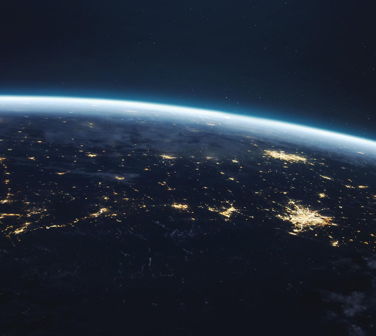 Globe from space