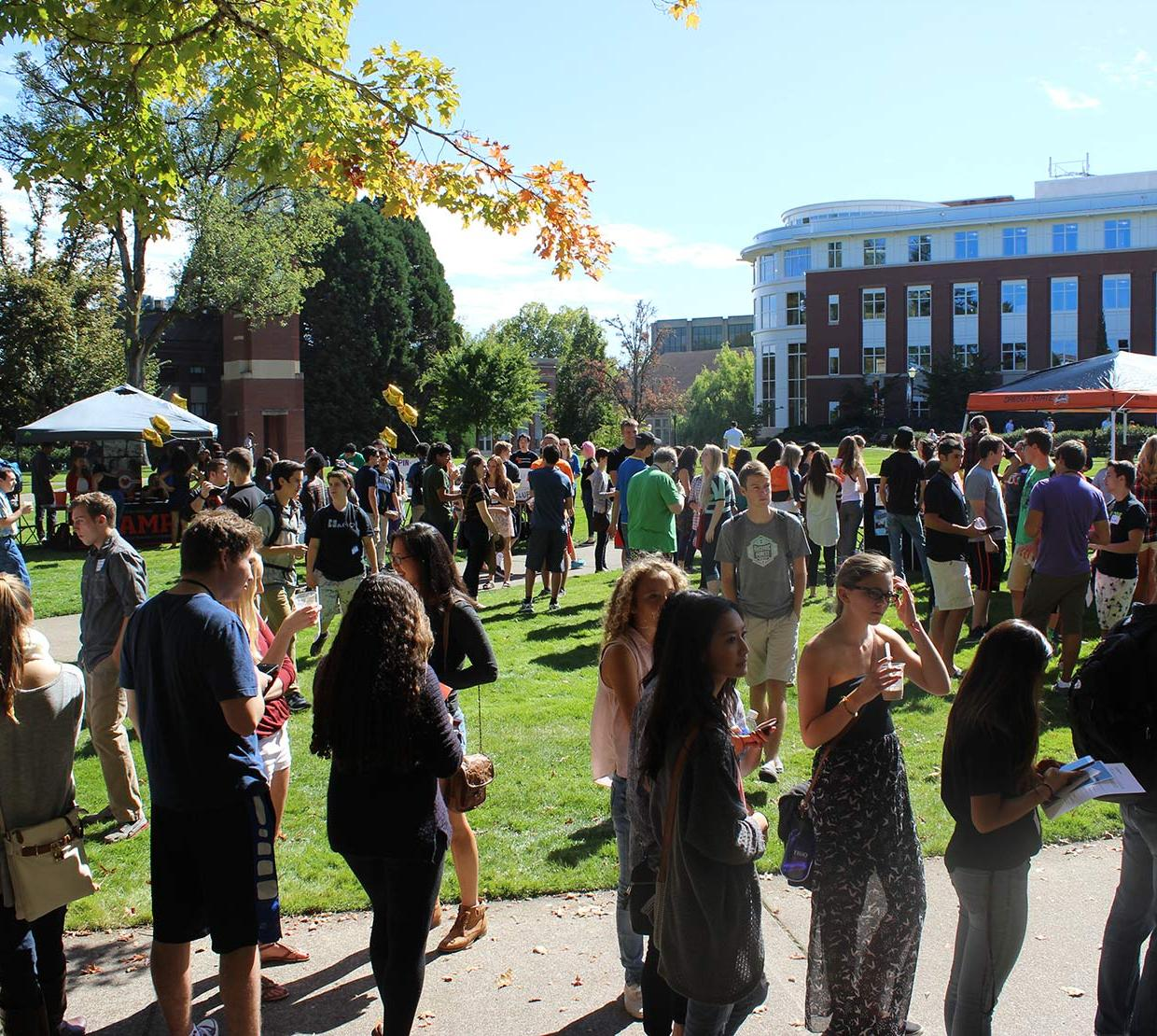Students exploring Fall Welcoming Social