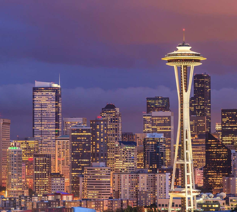 Seattle, Washington Space Needle and skyline