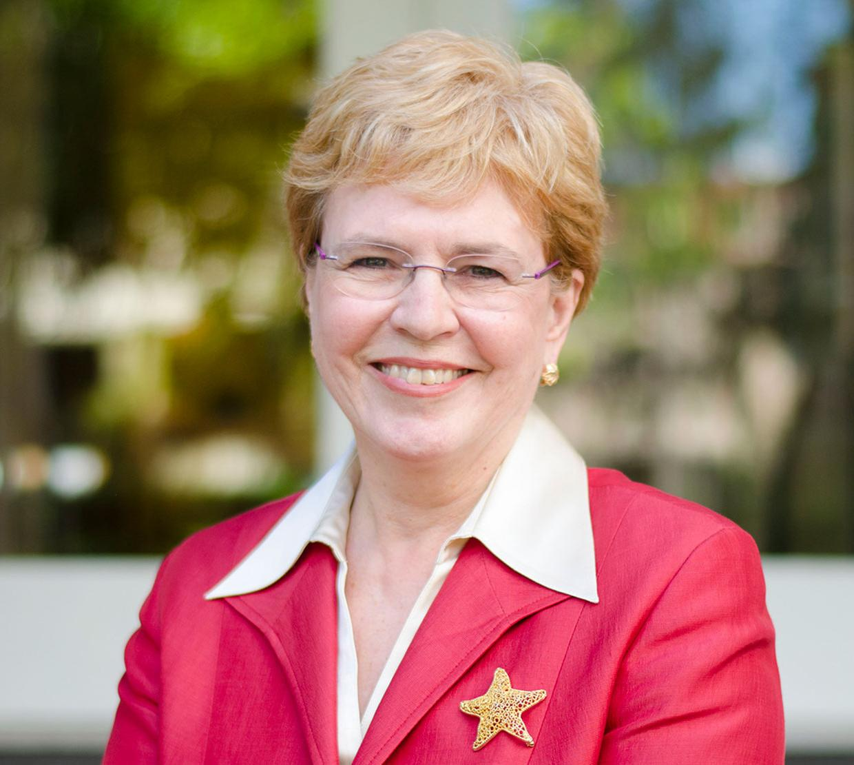 Jane Lubchenco standing outside