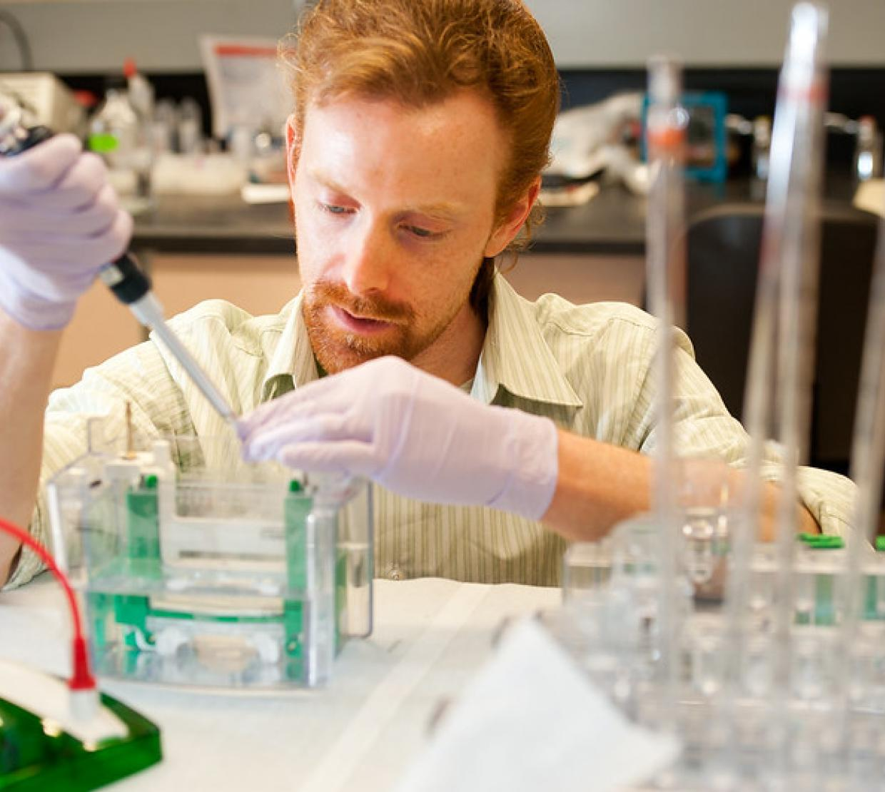 Biochemistry research in the College of Science, OSU.