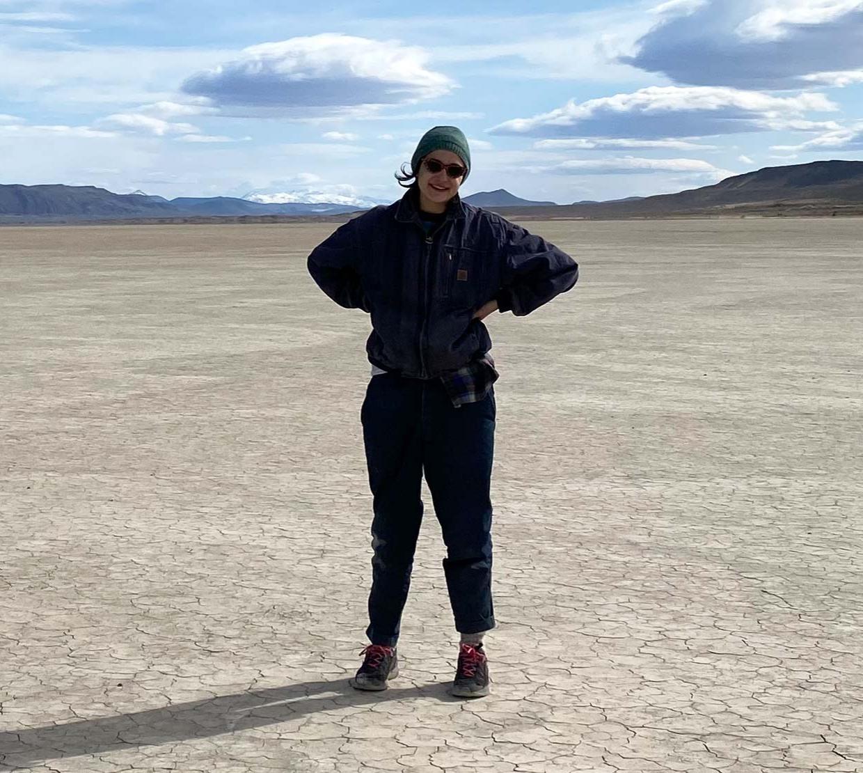 Ilana Gottfried in the field