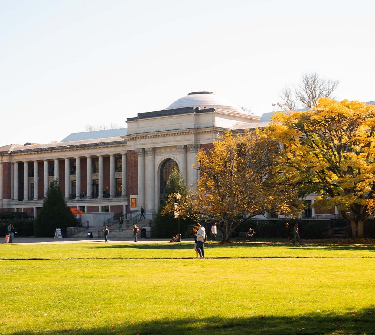 The Memorial Union on a sunny autumn day.