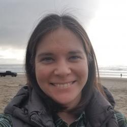 Elise Lockwood on beach