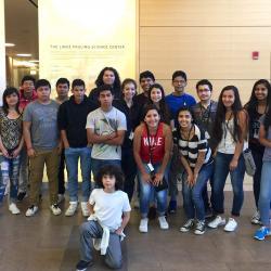 group photo of Juntos campers in Linus Pauling