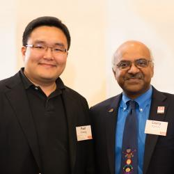Paul Cheong with Sastry Pantula in lobby