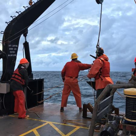 OSU marine scientists on the Oregon coast.