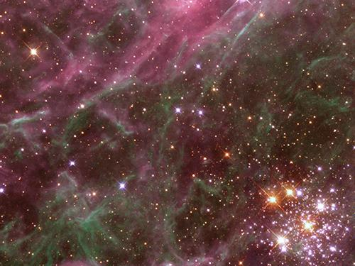 pink and green galaxy