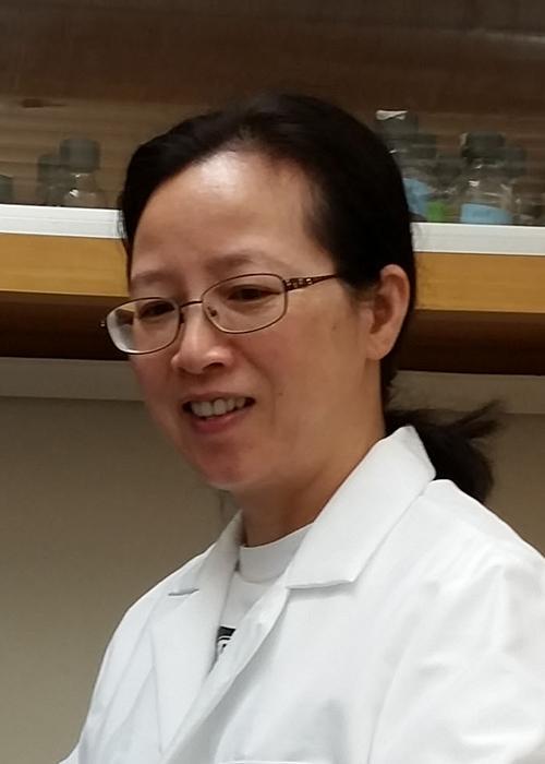 Lixin Li standing in lab