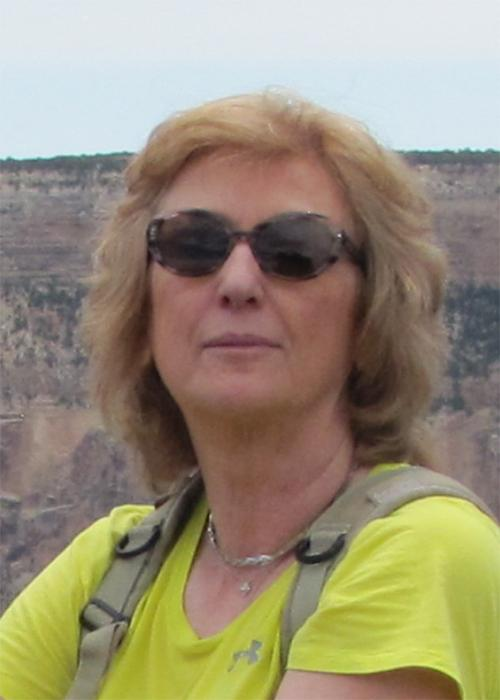 Barbara Gvakharia in front of Grand Canyon