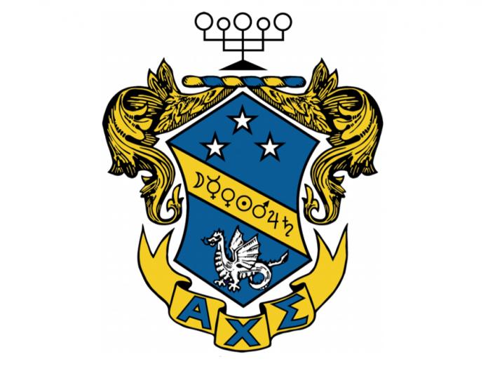 Alpha Chi Sigma logo.