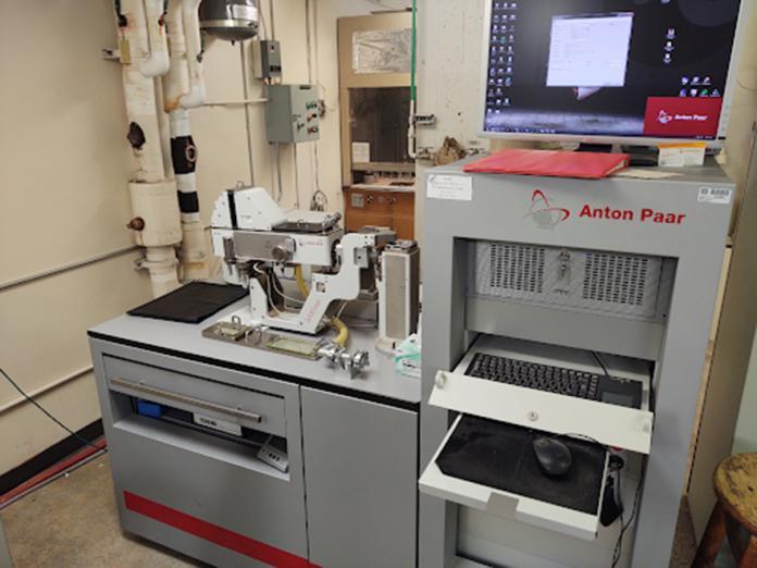 Anton Paar SAXSess machine in X-Ray Diffraction Lab.