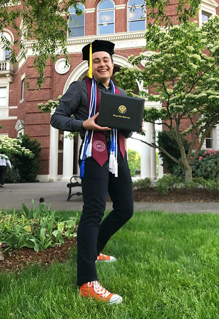 Linus Unitan will graduate this spring with a degree in Honor's chemistry and a minor in biology.