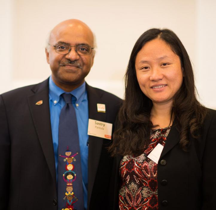 Dean Sastry Pantula and Promising Scholar awardee Lan Xue, Statistics