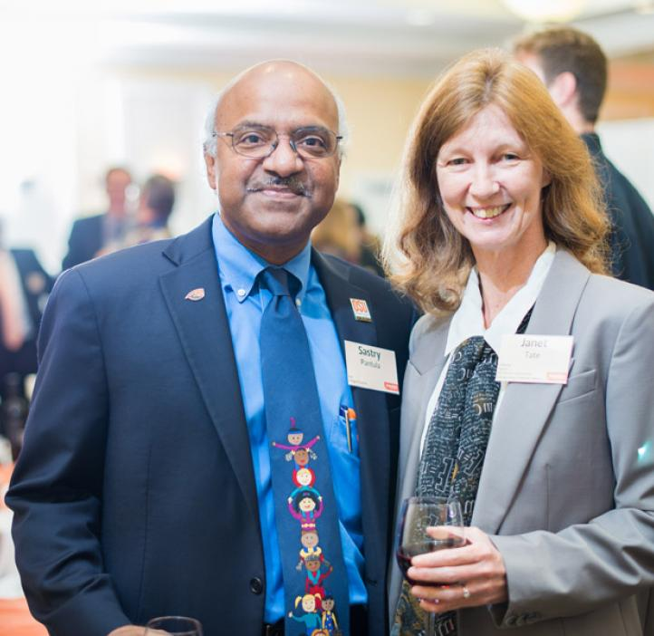Dean Sastry Pantula and OSU Alumni Association Distinguished Professor Janet Tate