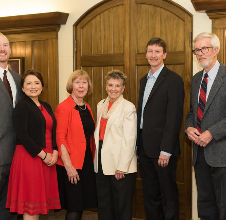 Award recipients (l to r) Nathan and Luisa Snyder, Suzanne McGrath, Kay Merrill, Lee Sickler and Chris Mathews at the 2017 College of Science Alumni Awards
