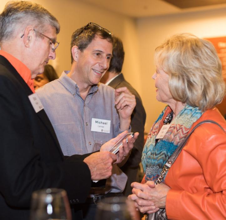 Head of chemistry Michael Lerner (center) at the 2017 College of Science Alumni Awards