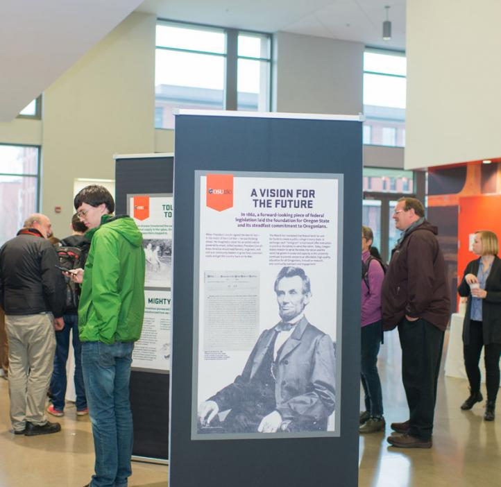 OSU poster featuring Abraham Lincoln