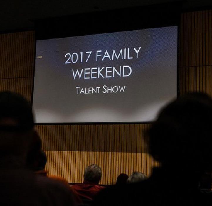 talent show slide on stage