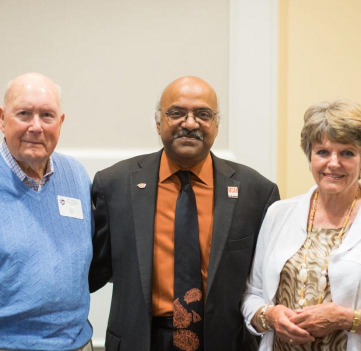 Scholarship donors with Sastry Pantula