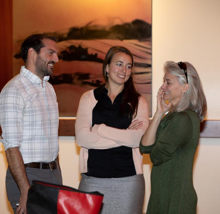 Maude David, Kenton Hokkanson and Rebecca Vega Thurber, 2018 Faculty and Staff Awards