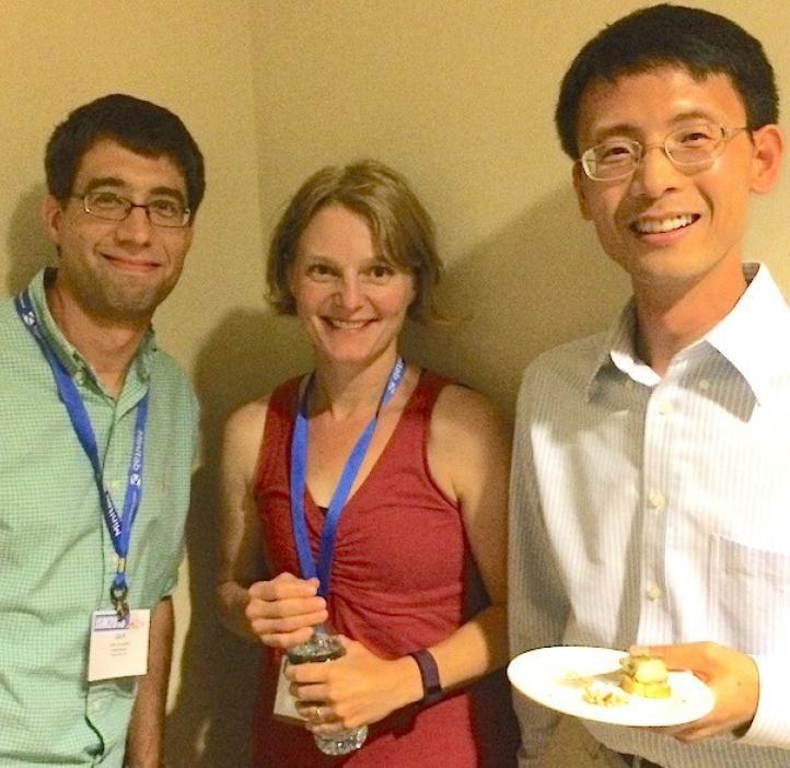 statistics alumni colleagues enjoying food