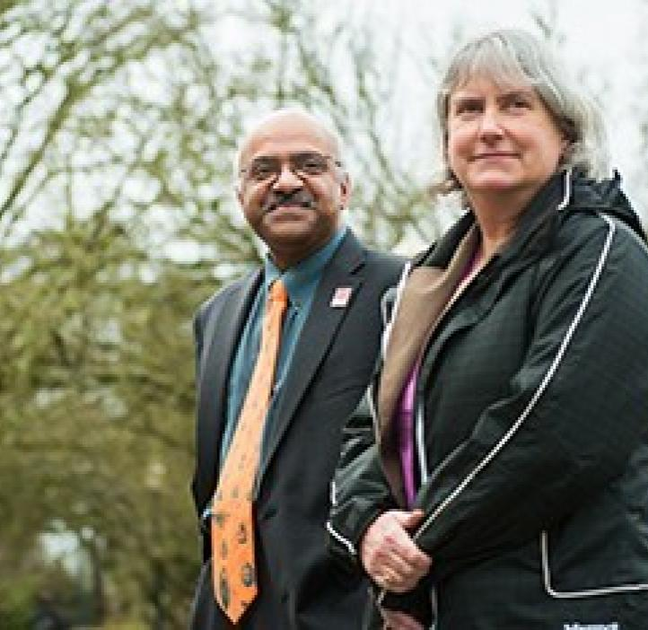 Sastry Pantula and Virginia Weis overlooking event