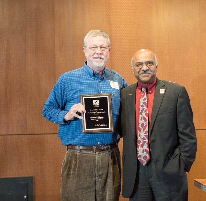Robert Mason receiving award from Sastry Pantula