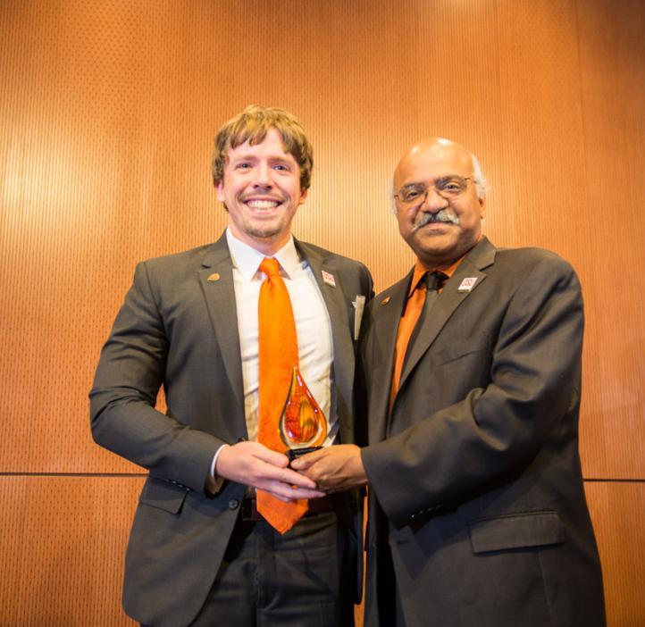 Scott Clark receiving award from Sastry Pantula