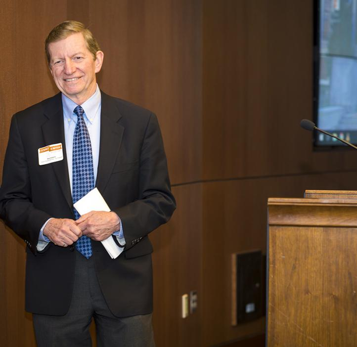 Interim Provost and Executive Vice President Ron Adams is honored for his outstanding service to Oregon State University