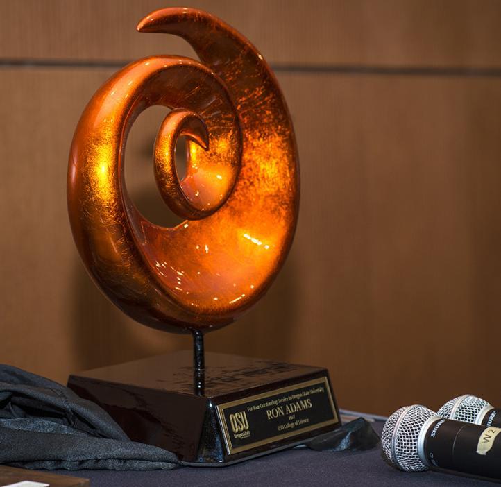 Art piece award for Ron Adams