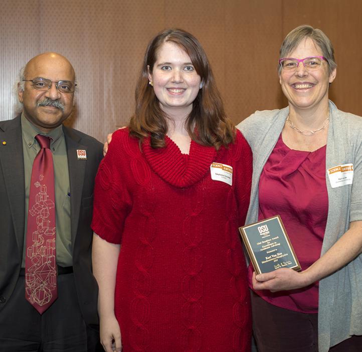 Kari Van Zee, winner of the Olaf Boedtker Award for Excellence in Undergraduate Advising